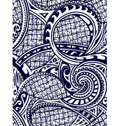 Maori style seamless ornament vector