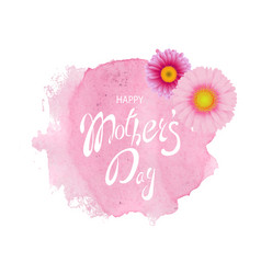 mothers day card pink stain with gerber vector image