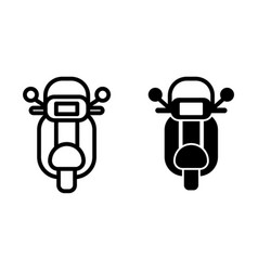 Motorcycle line and glyph icon motorbike vector