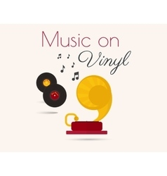Music on vinyl vector