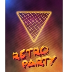 Neon Style Triangle Techno Background Outer Space vector