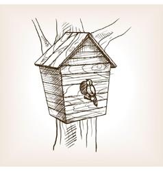 Nesting box sketch style vector
