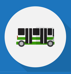 Of vehicle symbol on bus flat vector