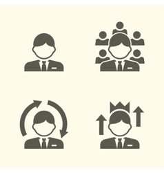Office guy portrait icons vector