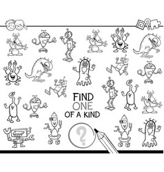 one of a kind game coloring page vector image