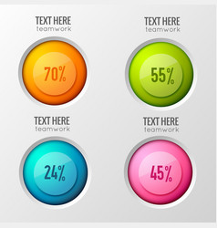 Option poll circles background vector