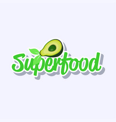 plant based superfood natural product sticker vector image