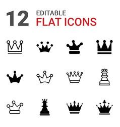 queen icons vector image