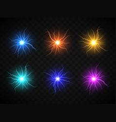 Realistic ball lightning plasma sphere electric vector