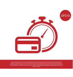 Red fast payments icon isolated on white vector