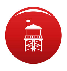 rescue tower icon red vector image