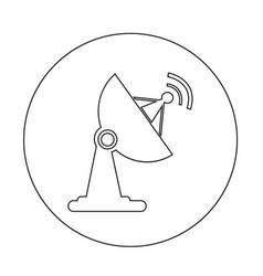 satellite dish icon design vector image