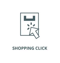 shopping click line icon linear concept vector image