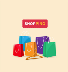 shopping hanger shopping bag background ima vector image