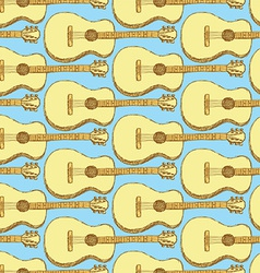 Sketch guitar musical instrument vector image