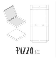 Stock box for pizza vector