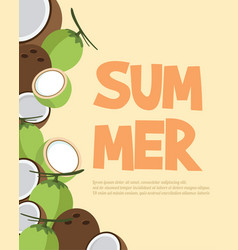 summer holiday concept beach party vector image