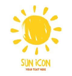 Sun burst logo icon vector
