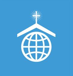 Symbol or icon of christian church worldwide vector