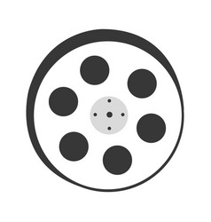 Tape reel film icon vector