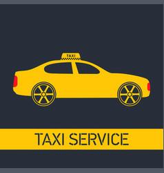 taxi icon taxi service yellow taxi car grey vector image