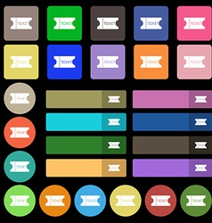 ticket icon sign Set from twenty seven vector image