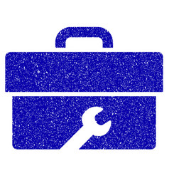 toolbox icon grunge watermark vector image vector image
