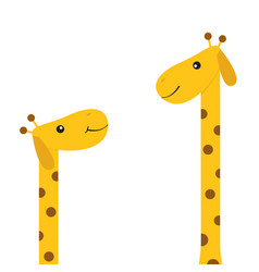 two giraffes with spot mother and bazoo animal vector image