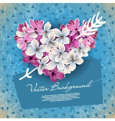 valentines heart from flowers vector image
