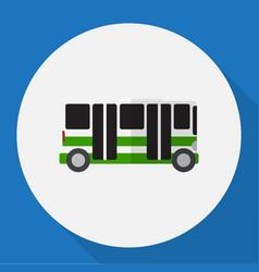 Vehicle symbol on bus flat vector