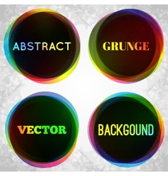 Abstract grunge frame background vector image vector image