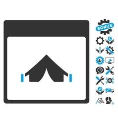 Camping Calendar Page Icon With Bonus vector image vector image