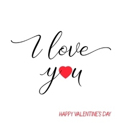 I love you lettering text on white background vector image