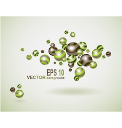 Abstract background with multicolored balls vector image