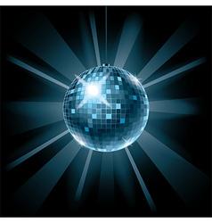 disco ball on dark vector image