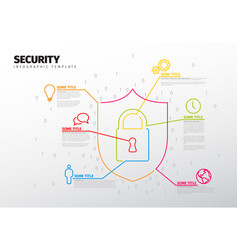 security infographic report template vector image