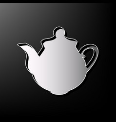 tea maker kitchen sign gray 3d printed vector image