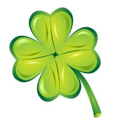 Green Lucky trefoil vector image