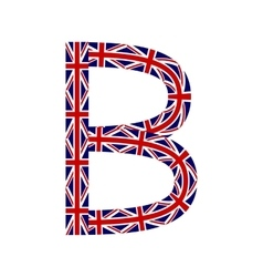 Letter B made from United Kingdom flags vector image vector image