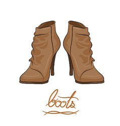 modern fashion brown boots vector image vector image