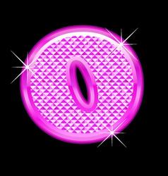 O letter pink bling girly vector