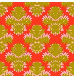Pattern with damask motifs vector image
