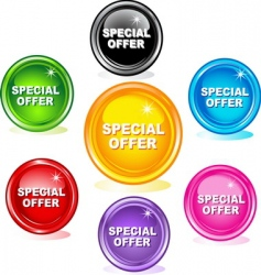 special offer buttons vector image vector image