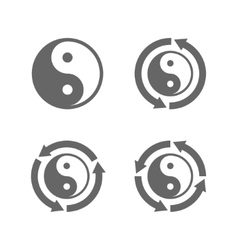 Ying yang eternal moving energy icon vector image vector image