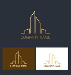 building cityscape logo vector image