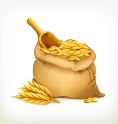 Ears and wheat bag isolated vector image vector image