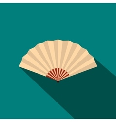 Japanese folding fan icon flat style vector image