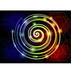 Light spiral colorful background vector image