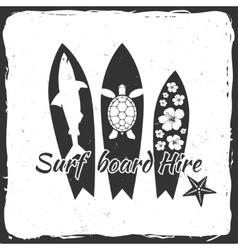 Surf board hire concept vector image