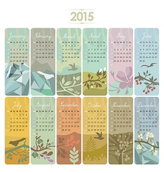 2015 Calendar Set vector image
